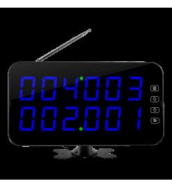 Беспроводное табло вызова K-4-D  (синий)
